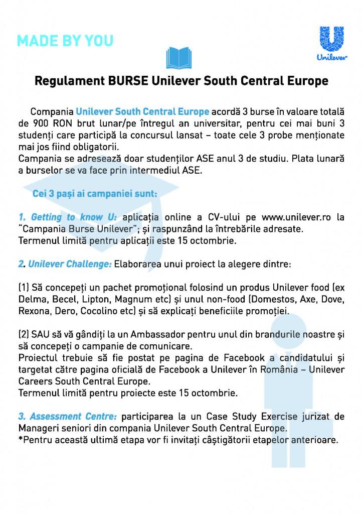 Regulament Burse USCE